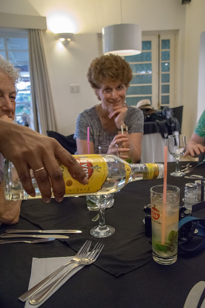 We were offered a complimentary Cuban rum drink before every lunch and dinner.