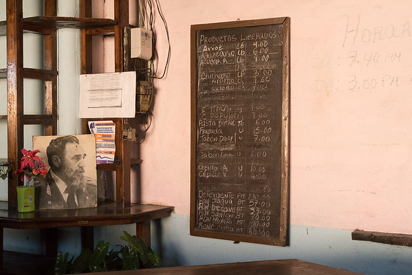 Libreta, rationing, store in Pepito Tey