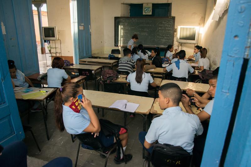 Classroom in Trinidad.