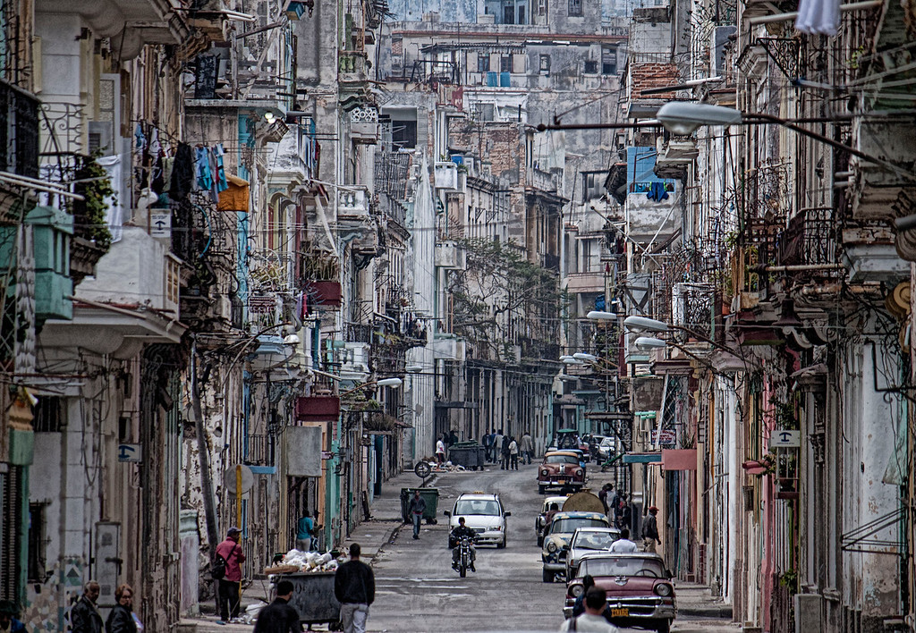 Busy Havana Street Scene