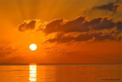 Sunrise on the Atlantic Ocean at Cayo Guillermo, Cuba