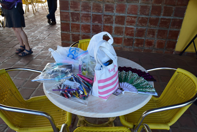 Gifts we brought for the local children.