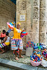 Havana. Vendor at Cathedral Square. I purchased 2 Cuban dolls from this woman.