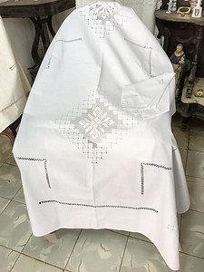 Handcrafted linens.