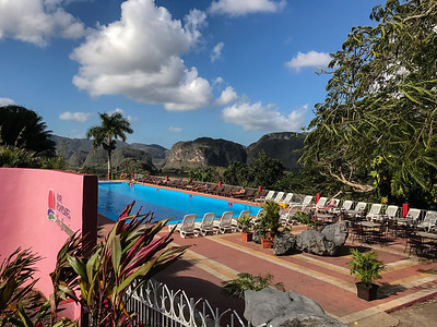 Beautiful hotel up in the mountains as you come into the town of Vinales.