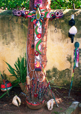 Santería shrine in the museum of Guanabacoa, Cuba.