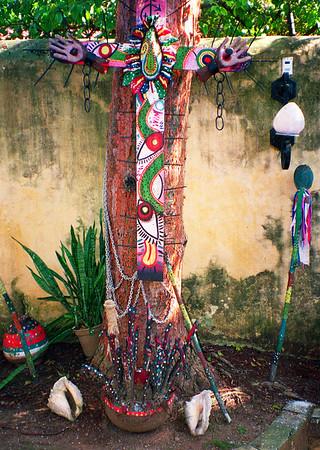 Santería shrine in the museum of Guanabacoa, Cuba.