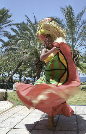 Folkloric dancer performs in Havana, Cuba.