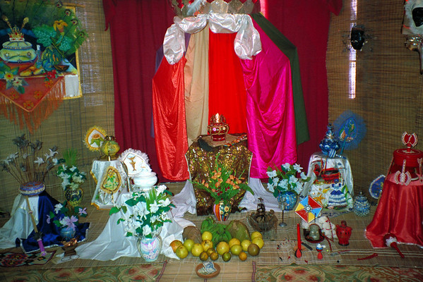 Shrine in the Santería Museum in Guanabacoa, Cuba.