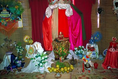 Shrine in the Santería Museum in Guanabacoa, Cuba.