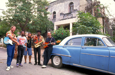 """La Mezcla,"" Cuban music group, in Havana, Cuba."