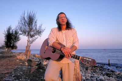 José Angel Navarro, one of Cuba's foremost guitar players, in Cuba.