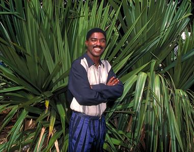 Monolito, Cuban singer, in Havana, Cuba.