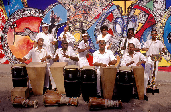 """Clave y Guaguanco,"" traditional musicians, perform in Havana, Cuba."