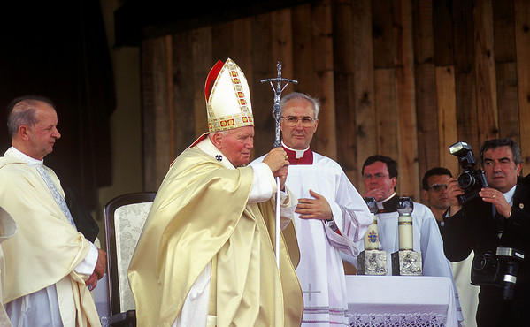 Pope John Paul II performs Mass in Santa Clara, Cuba, during his historic visit to the island in January, 1998.