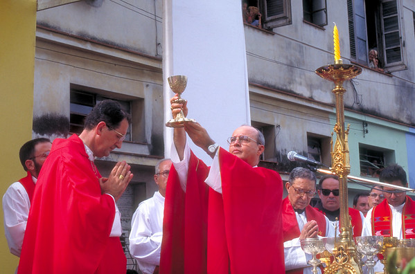 Cuban Cardinal Jaime Ortega performs Mass in Havana, Cuba, in preparation for Pope John Paul II's visit to the island.