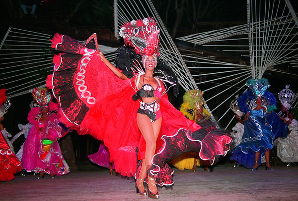Cuban dancer performs at the Tropicana Cabaret <br /> in Havana, Cuba.