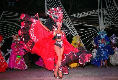 Cuban dancer performs at the Tropicana Cabaret  in Havana, Cuba.