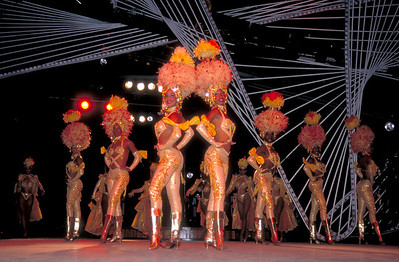 Cuban dancers perform at the Tropicana Cabaret  in Havana, Cuba.