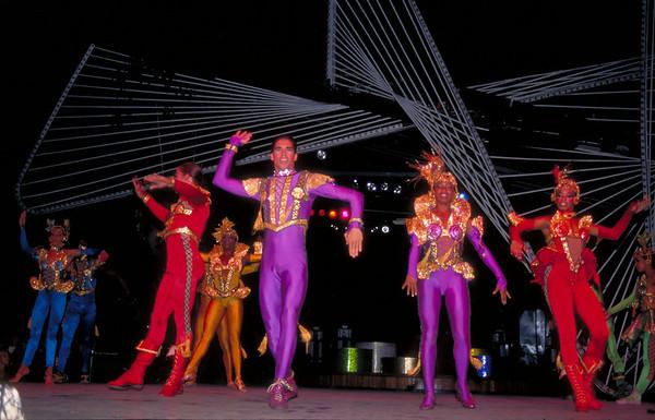 Cuban dancers perform at the Tropicana Cabaret <br /> in Havana, Cuba.