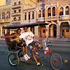 Bicycle taxi in Havana, Cuba.