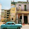 Old American car passes in Havana, Cuba.