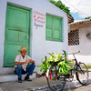A man selling bananas in Taguaco, Cuba.