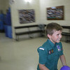 Jake happy because he was the fastest to finish and not even drop his balloon!! :D