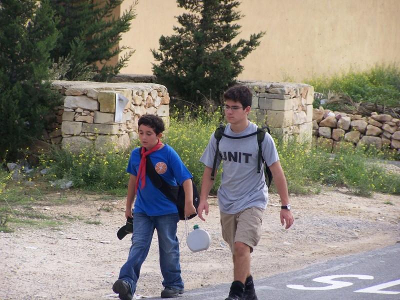 Cub Julian walking with VS Zack