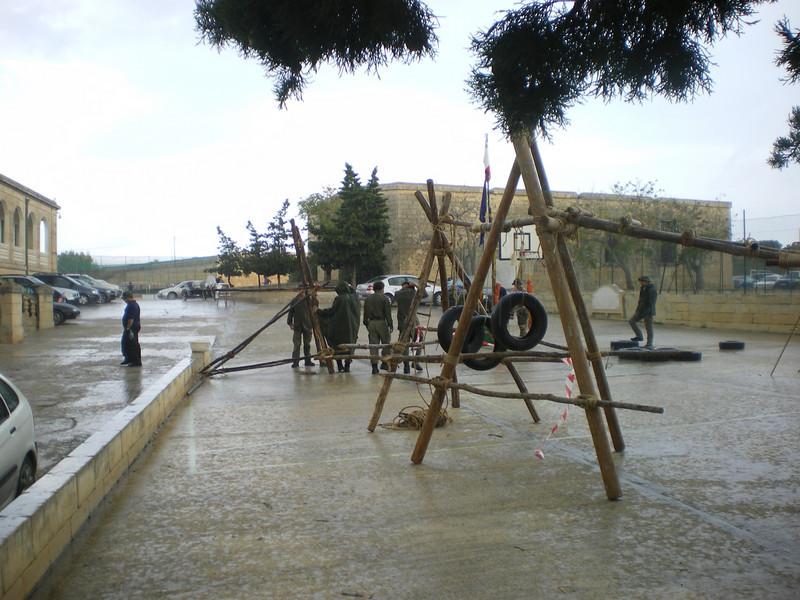 despite the rain...we still had to dismantle everything...