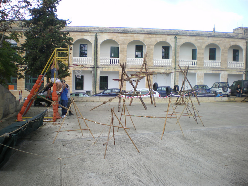the obstacle course built by the ventures