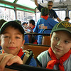 Thomas and Zach on the bus to cirkewwa..