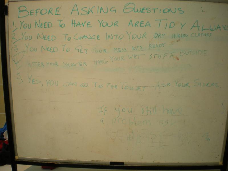 leaders whiteboard...