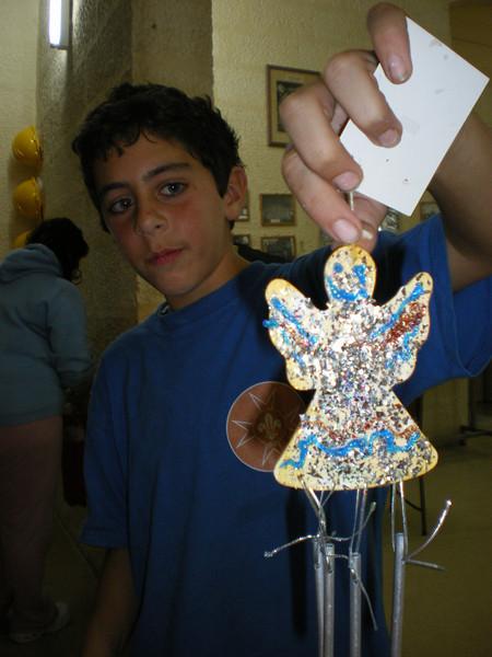 Theo's angel full of glitter!