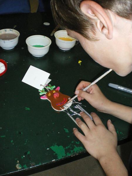 Liam painting..