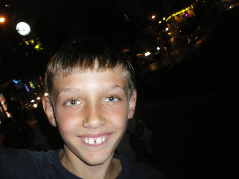 Liam smiling for the camera