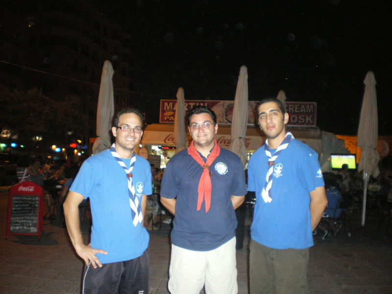 GSL David with 2 leaders from Stella Maris College scouts