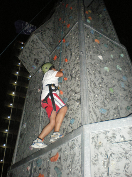 climbing wall on the front!