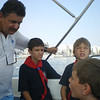 Liam asking a few questions to our 'tour guide'