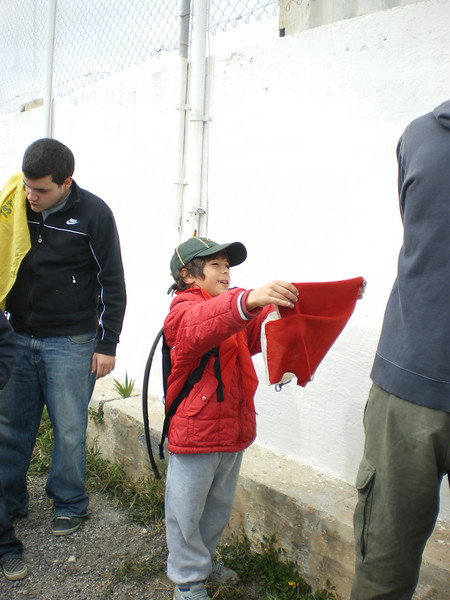 Jacques asking Tabaqui how to fold the flag properly..