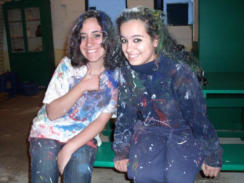 Raksha and Rama after the paint fight ;D