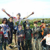 Some of the cubs with the leaders after the paintfight.....