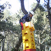 George climbing high!!