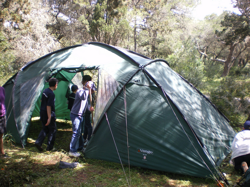 Tents being pitched