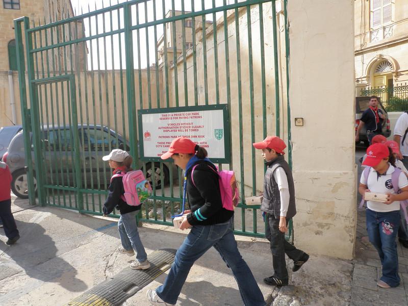Entering St.patricks