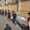 Sliema Cubs walking back to HQ...hehe Thomas with his hand up due to his small injury