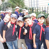 The Sliema Cubs outside the local council of Sliema with other cub group in the background