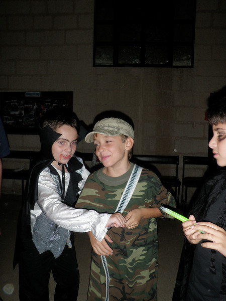 Zach and George dressed up to scare the ghosts :P