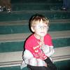 Little Stuart sitting on the steps ;)