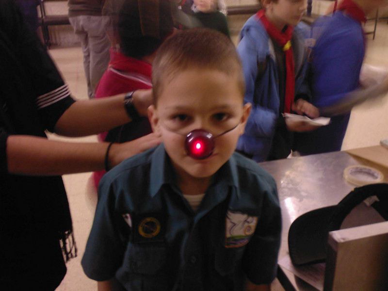 Kane with Rudolph's red nose :)